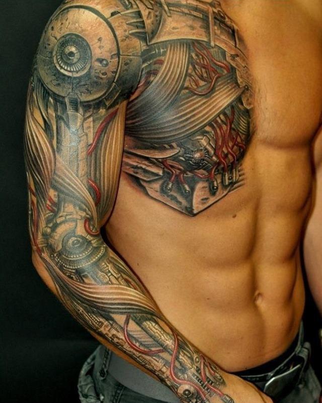 tatouage biomécanique : 50 photos et idées géniales !
