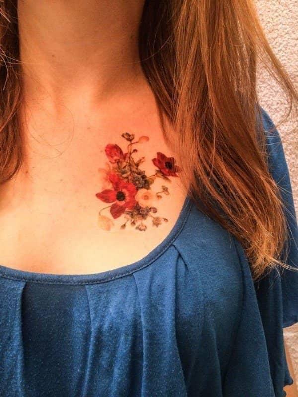 tatouage fleur : 50 photos et idées géniales !