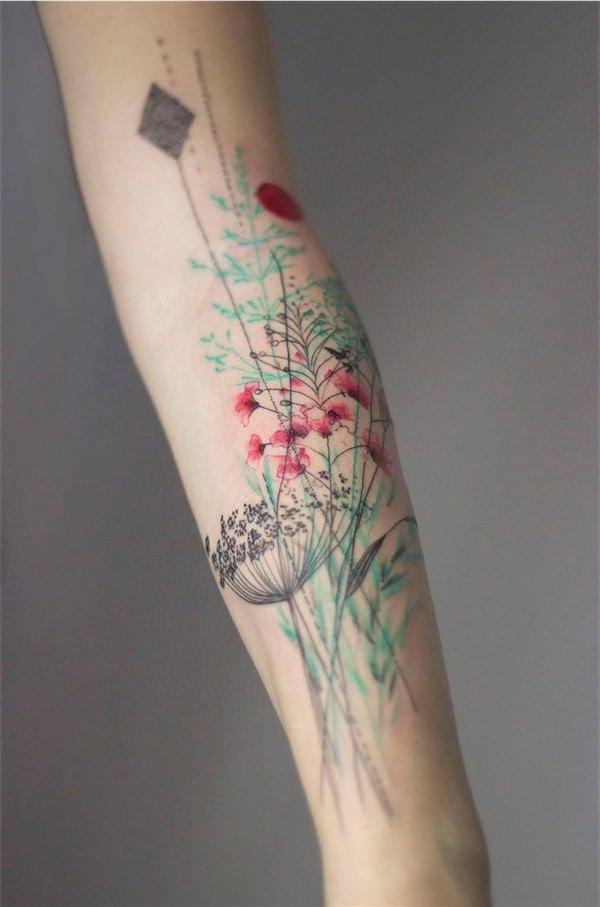 Cliquez sur une image pour zoomer et afficher les photos de tatouage de  fleur sous forme de diaporama !