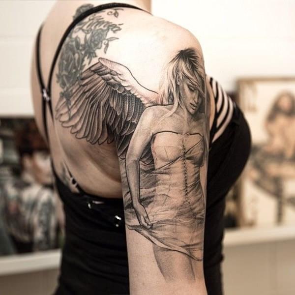 Tatouage Ange Et Ailes D Ange 50 Photos Sublimes