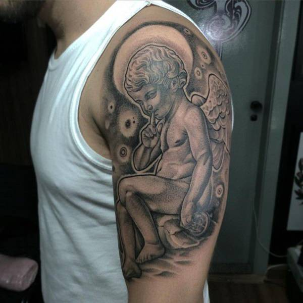 Tatouage Ange Et Ailes D Ange 50 Photos Sublimes
