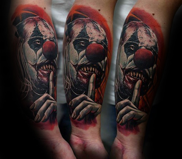 Tatouage Clown 50 Photos Et La Signification
